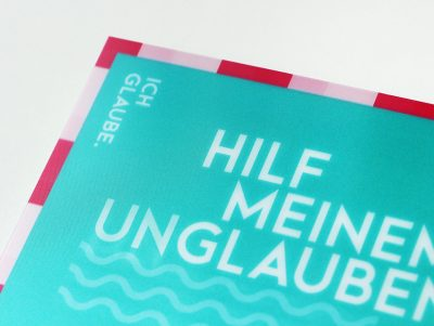Lentikular-Postkarte zur Jahreslosung 2020 Nahaufnahme oben