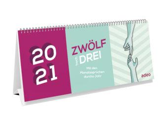 Aufstellkalender Monatssprueche 2021